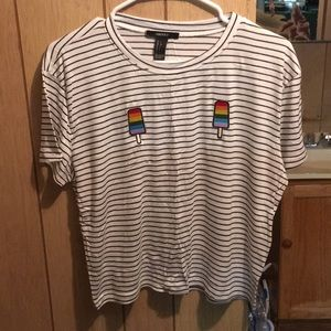 Striped popsicle t-shirt